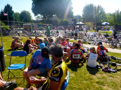 The halfway point, with festiviities and some lodging at Centralia College.