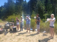 Music at one of the rest stops!