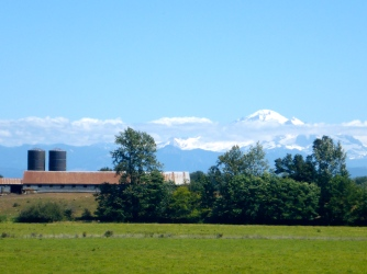 Mount Baker in the distance