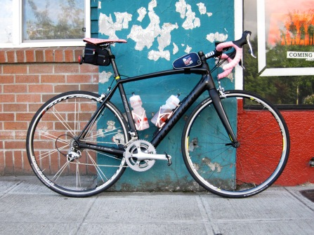 The Tarmac with its new frame and new pinkness