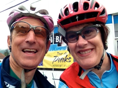 At the start in North Bend