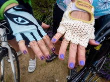 Riders nicely accessorized for the Tour de Lavender