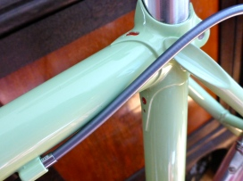 The seat cluster. Timothy specified the details on this one—classic scalloped Italian seat stay attachments.