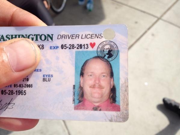 "Scott kept his old driver's license as a ""souvenir."""