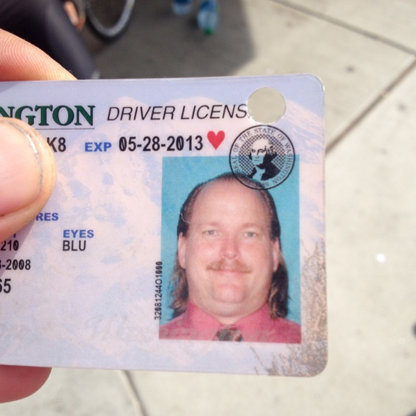"Scott kept his old driver's license as a ""souvenir."""